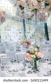 Table setting for wedding celebration