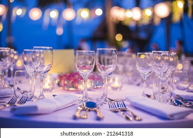Table setting for wedding or event