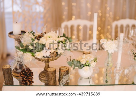 Table Setting Winter Wedding Reception Floral Stock Photo Edit Now