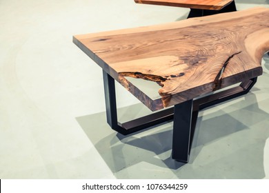 table from a sleb of a tree stuck