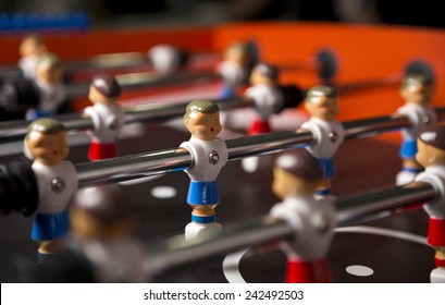 Table soccer close up