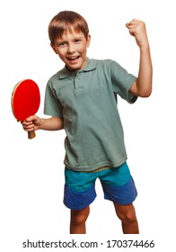 table tennis athlete ping pong boy experiencing joy of victory winning success emotions
