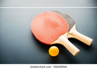 Table tennis with ball