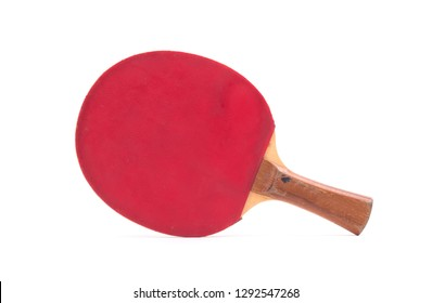 Table tennis bat, isolated on a white background