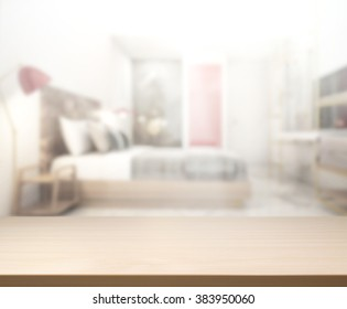 table top and blur background in the bedroom - Bedroom Background