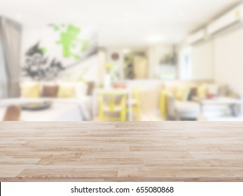 Table Top And Blur bedroom Background