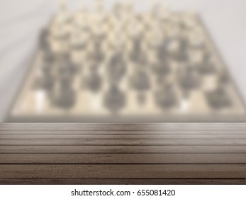 Table Top And Blur chessboard background