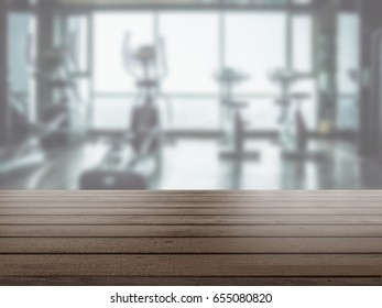 Table Top And Blur gym background
