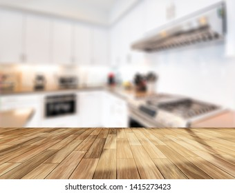 Table Top And Blur Kitchen Room or bathroom Of The Background - Image