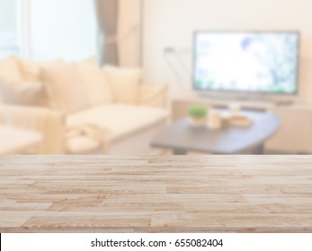 Table Top And Blur living room Background