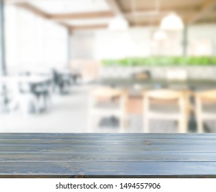 Table Top And Blur Restaurant Of The Background