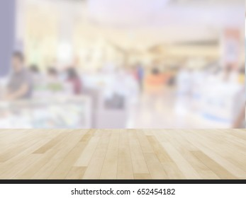 Table Top And Blur shopping mall  Of The Background