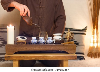 Table for traditional chinese ceremony with master