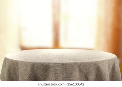 table and window of sun light