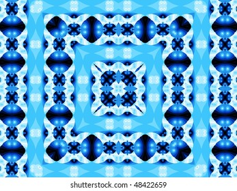 tablecloth blue abstract