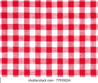 tablecloth square red color