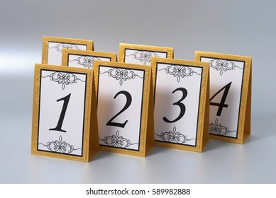 Tables numbers for weddings.