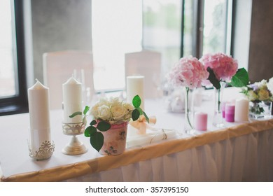tables set for wedding
