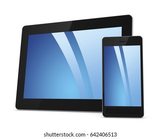 tablet computer 3d illustration on white background