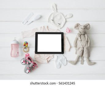 Tablet computer and baby's items