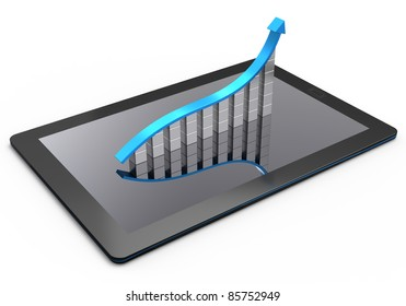 Tablet computer with a bar graph