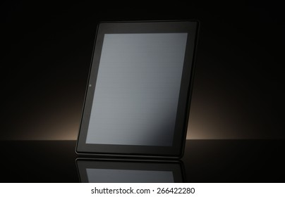 Tablet computer  on  black background