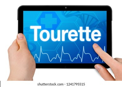 Tablet computer with tourette syndrome