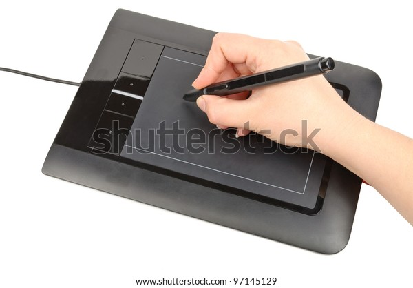 Tablet for drawing. Photos isolated on white background