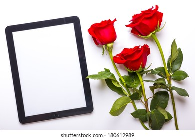 tablet flower isolated