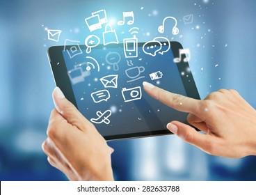 Tablet, monitor, display.