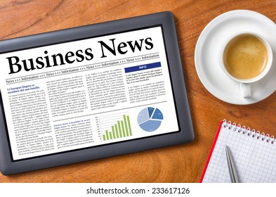 Tablet on a desk - Business News