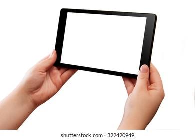 Tablet PC in hands