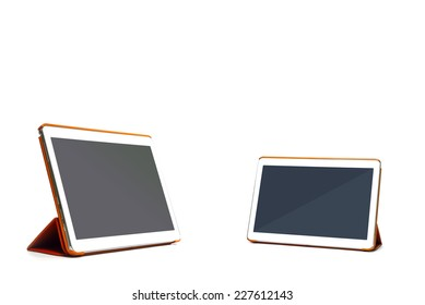 tablet pc isolated on white with clipping path