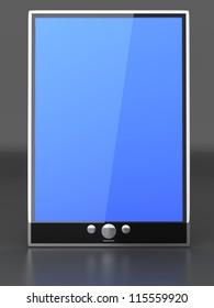 A Tablet PC / Pad. 3D rendered illustration.
