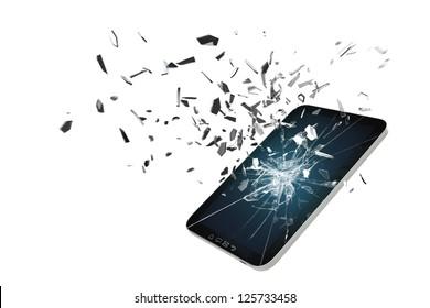 Tablet PC Screen damage Simulation 3D