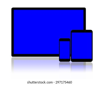 tablet pc and smartphones.