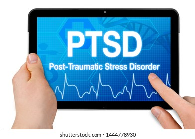 Tablet with touchcreen and PTSD post traumatic stress disorder