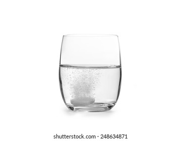 Tablet in a water glass