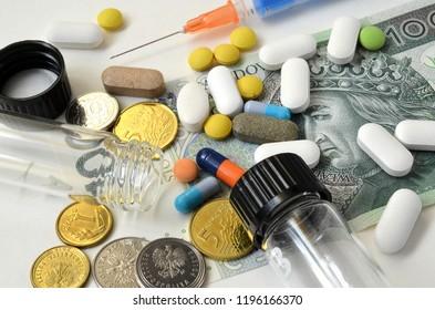 tablets and a medical syringe