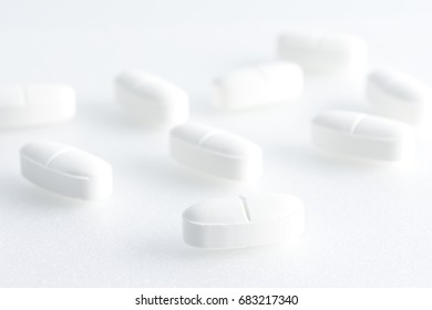 tablets of medicine, shallow depth of field