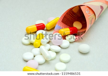 Tablets Scattered On Table Dosage Patient Stock Photo Edit