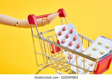 tablets, trolley, wheelbarrow