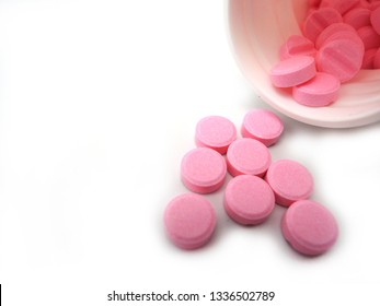 Tablets of warfarin sodium. Warfarin is a Vitamin K antagonist which is used for preventing the blood from clotting.
