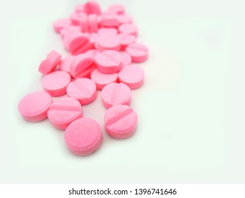 Tablets of warfarin sodium. Warfarin is a Vitamin K antagonist which is used for preventing the blood from clotting