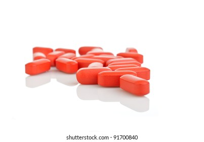 The tablets. White background.