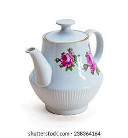 tableware made of porcelain on a white background
