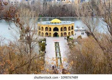 Tabriz, East Azerbaijan province, Iran - March 15, 2018: View of Park El Golu in spring