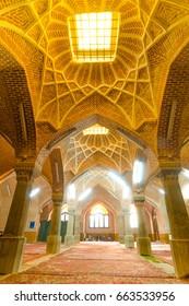 TABRIZ, IRAN - OCTOBER 29: Iranian men waiting for praying time in Jameh Mosque of Tabriz or Tabriz central mosque on October 29,2016 in Tabriz Iran.