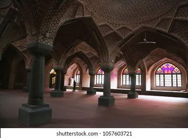 TABRIZ, IRAN - SEPTEMBER 30: Famous 'Jame Mosque' inside (The Great Mosque or Jameh Mosque) on September 30, 2017 in Tabriz, Iran.