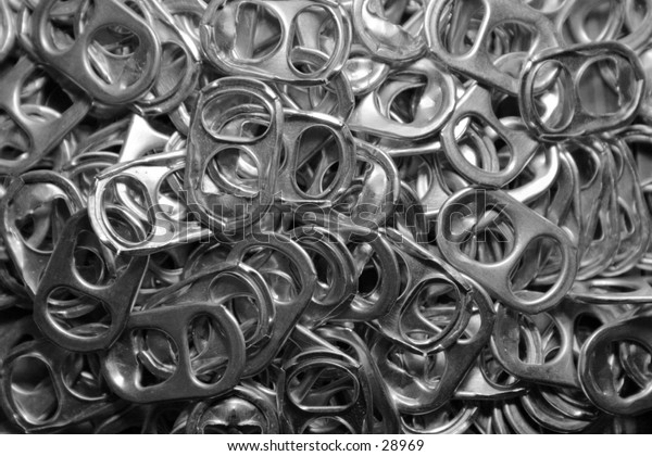 tabs from cans.